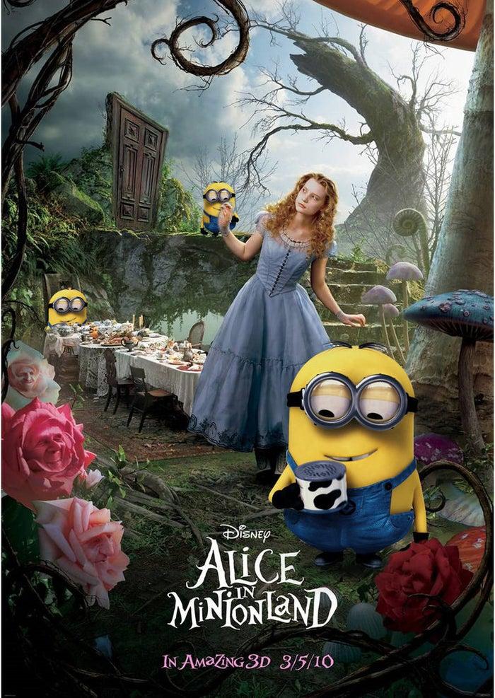 Alice in Minionland Poster by Alecx8