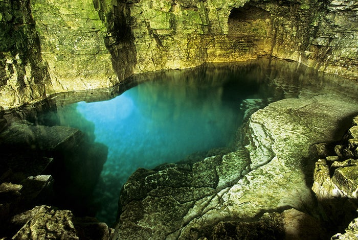 The Grotto is a large cave on the shore of Georgian Bay that the waves eroded over the years, creating the perfect swimming hole. You'll feel like you're in the Caribbean with these crystal blue waters.