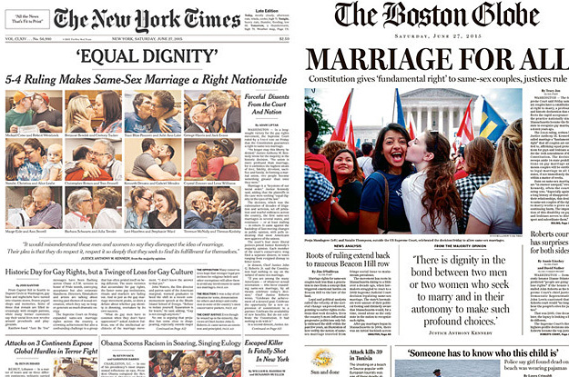 Homosexual marriage newspaper