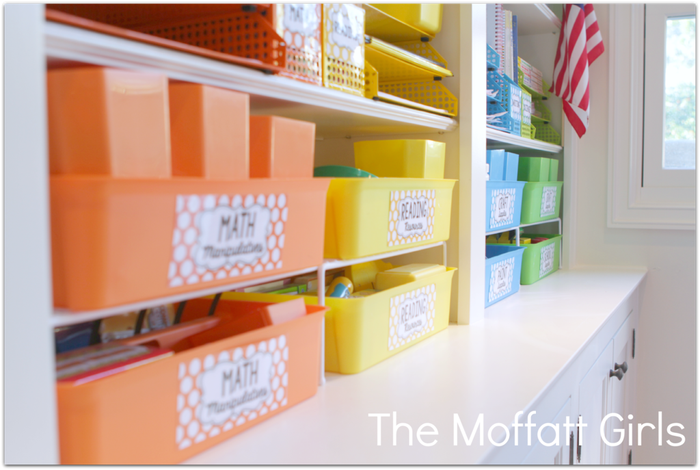 Visit The Moffat Girls to see every detail of this incredibly organized room!