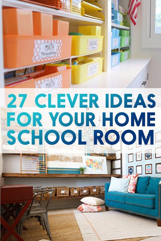 Homeschool Classroom Design Ideas ~ Ridiculously cool homeschool rooms that will inspire you