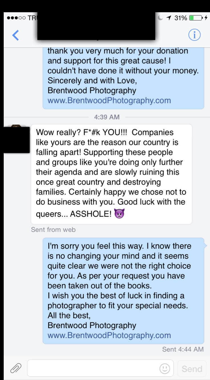 This Photographer Had The Best Response After Losing A Client For His Support Of Same-Sex Marriage