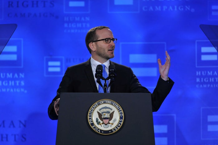 Human Right Campaign President Chad Griffin speaks at the HRC Spring Equality Convention on Friday, March 6, 2015 in Washington.