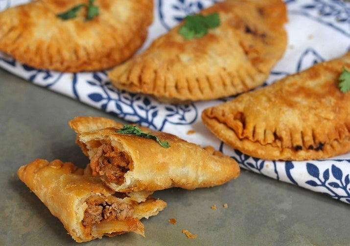 These savory fried hand pies are spicy, juicy and crispy all at once.Region: South AmericaTypical Filling: Ground or shredded meat.Recipe: Spiced Turkey Empanadas