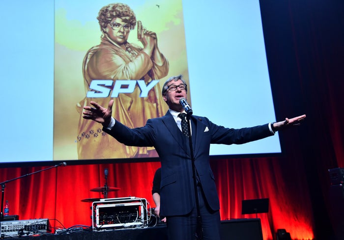 Director Paul Feig at the CinemaCon Spy party in Las Vegas on April 21, 2015.