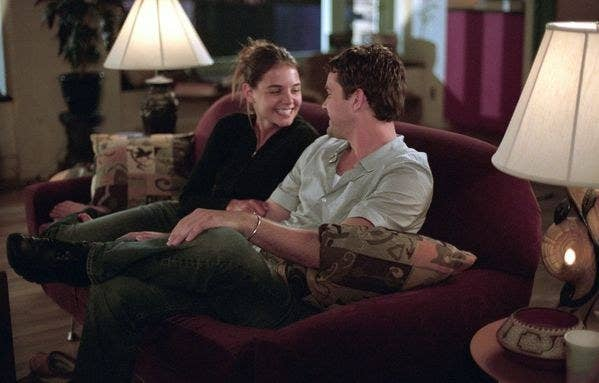 Joey and Pacey in the Dawson's Creek series finale.
