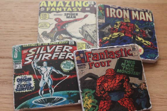 986ecb903022 You  x27 ll love these hand crafted Marvel comic coasters from this etsy  shop