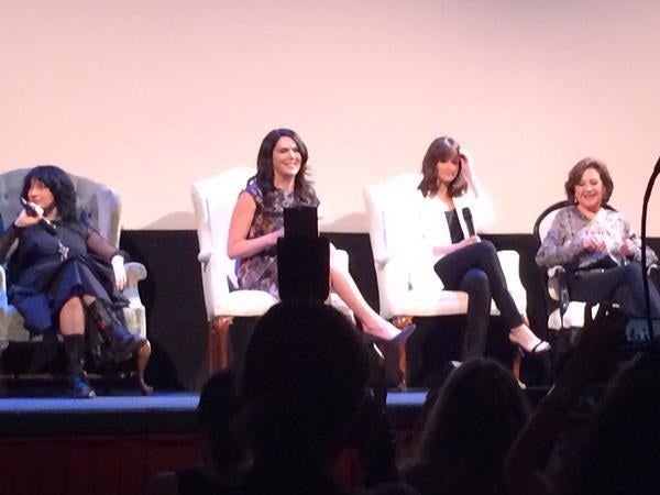 Amy Sherman-Palladino, Lauren Graham, Alexis Bledel, and Kelly Bishop at the Gilmore Girls reunion panel at the ATX Television Festival on Saturday, June 6 in Austin, Texas.