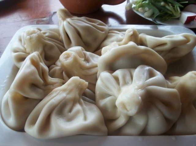 These quintessential boiled meat dumplings are considered the national cuisine of Georgia.Country: GeorgiaTypical Filling: Pork and beef.Recipe: Traditional Khinkali