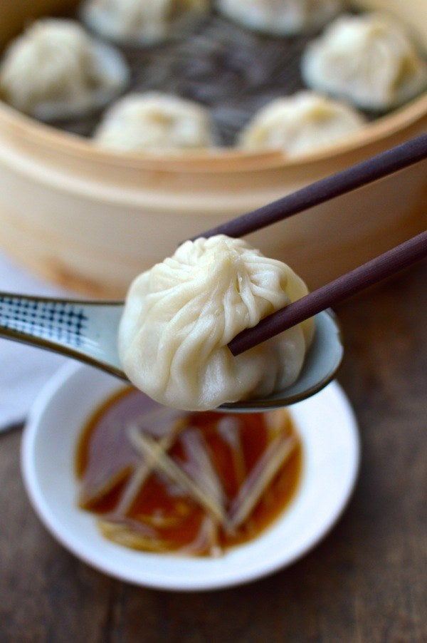 Soup dumplings are probably the best thing to happen to the world, ever. The secret? Gelatin!Country: ChinaTypical Filling: Meat and delicious brothRecipe: Steamed Shanghai Soup Dumplings
