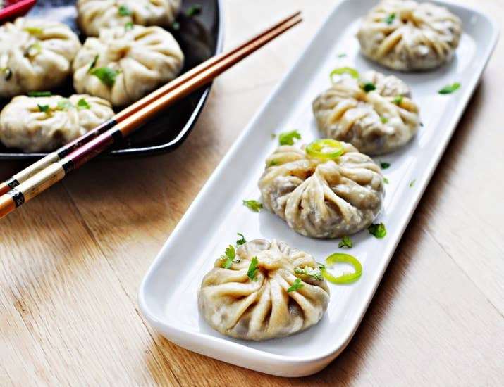 These are very thin dumplings bursting with juicy, meat and savory veggies.Country: NepalTypical Filling: Meat and veggiesRecipe: Mushroom Momo
