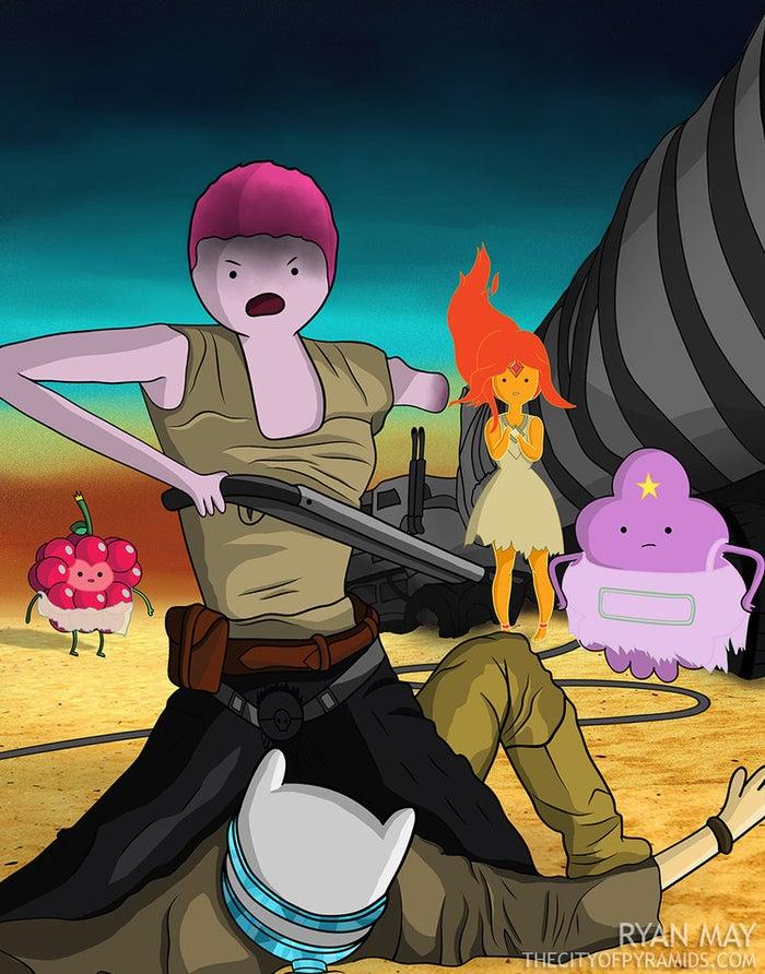 """""""Cuando vi a Furiosa con el brazo mecánico, pensé inmediatamente en el momento en que Finn perdió su brazo, y eso me llevó a pensar de nuevo en Hora de aventura."""""""