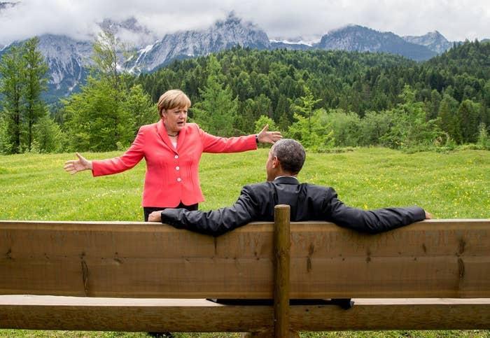 Es entstand während des G7-Gipfels in Garmisch-Partenkirchen.
