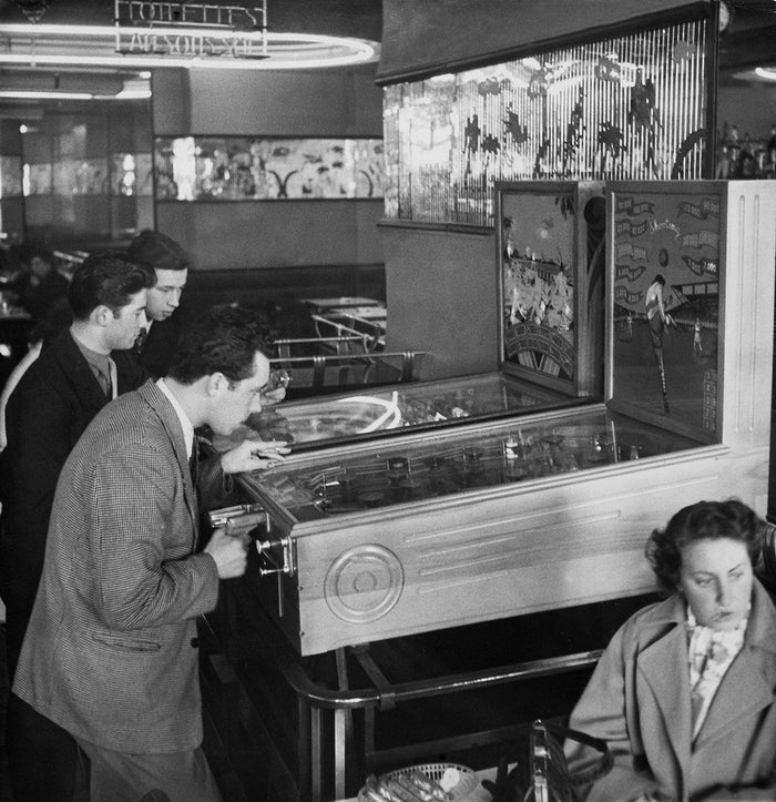 What's the most important staple of every arcade? Pinball, which is based on the French billiard game of bagatelle. But the modern, coin-operated pinball machines with the flashing lights and dinging bells were created in Chicago during the Great Depression to pick up spirits of the unemployed.