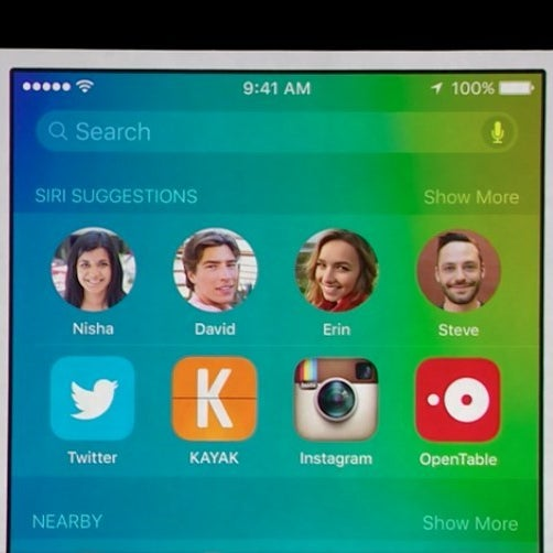 Smart contact suggestions in iOS 9