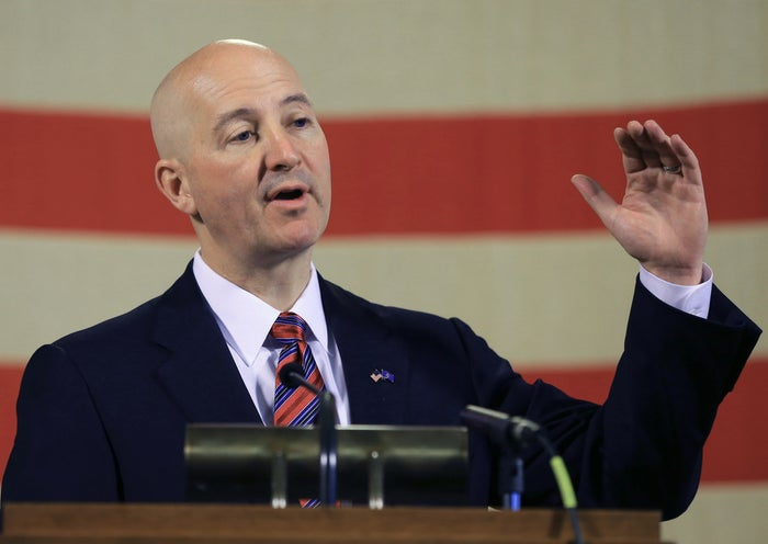 Neb. Gov. Pete Ricketts voices his opposition to abolishing the death penalty.