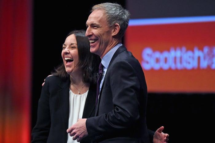 Kezia Dugdale with Jim Murphy.