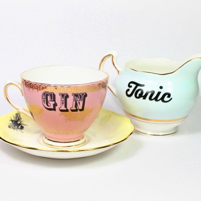 Show some love for your go-to drink with this cheeky tea set.
