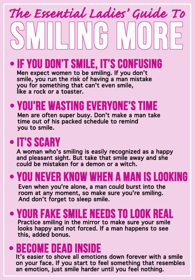 Why Women Should Remember To Smile