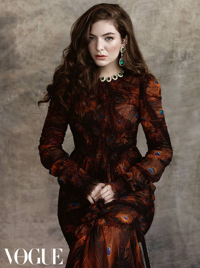 """""""She is fiercely intelligent, equally talented, and I am very proud of this, her first Vogue Australia cover,"""" editor-in-chief Edwina McCann writes in her editor's letter, reminding everyone why Lorde is worthy of all the *praise hands*."""