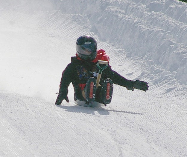 "Just what it sounds like, ""shovel racing"" is a sport where participants race down a snowy hill while riding on a shovel. Its roots are in New Mexico, and the annual World Championship is held there every February."