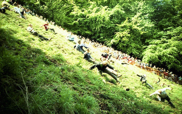 Like cheese and hills? Then you'll love this annual event at which a seven- or eight-pound round of Double Gloucester cheese is rolled down a very steep hill. Competitors chase after it, and the first one to cross the finish line gets the cheese.