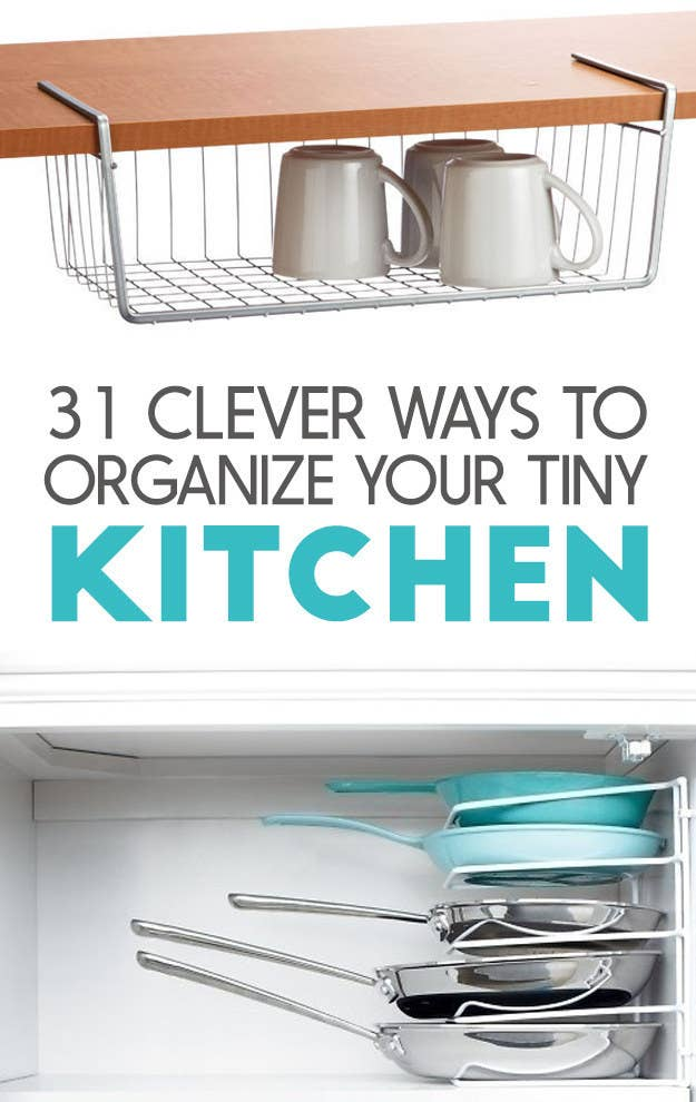 31 Incredibly Clever Ways To Organize Your Tiny Kitchen on small kitchen remodeling product, small kitchen cabinets product, small kitchen islands product, small kitchen sinks product,
