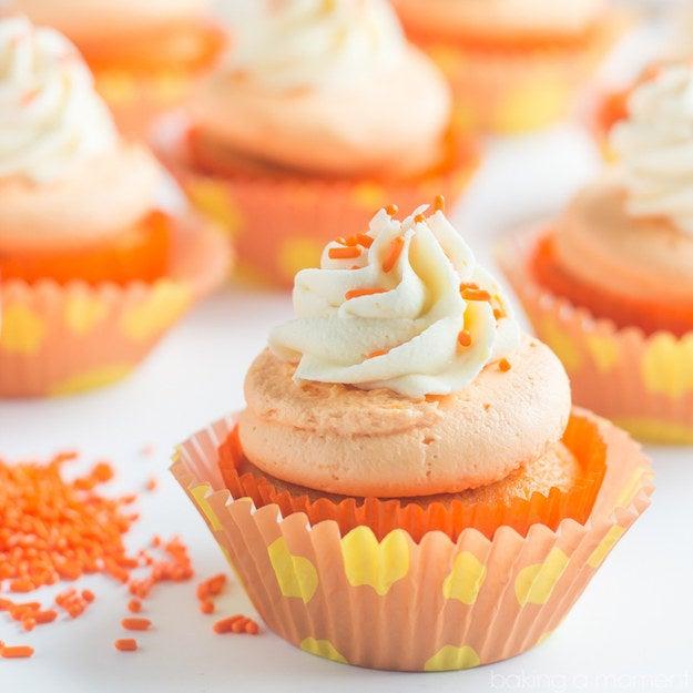 cupcakes de crema de naranja