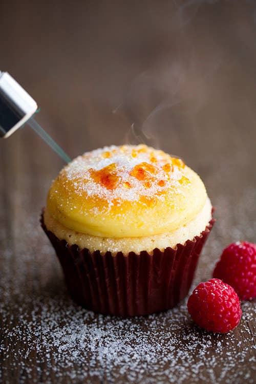 cupcakes con creme brulee