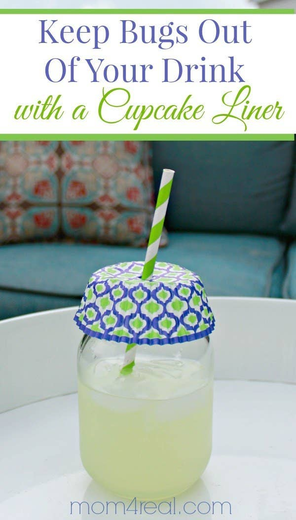 21 And Keep Your Drinks Bug Free Using A Cupcake Liner