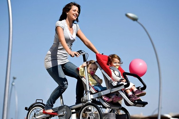 This Amazing Stroller Turns Into A Bike In Less Than 30 Seconds