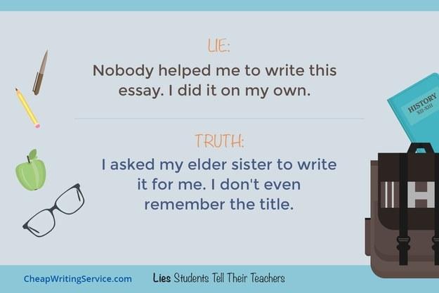 essay on the lie my teacher told me Essay on the lie my teacher told me, thesis skin help, essay help sat cadastre-se para receber informações sobre eventos, receitas e novidades do nambu nome.