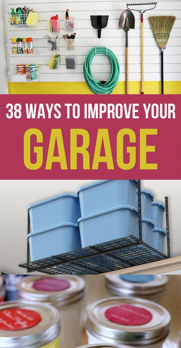 38 Borderline Genius Ways To Organize Your Garage on clean my garage, remodel my garage, super organize your garage, organizing my garage, ways to organize a garage,