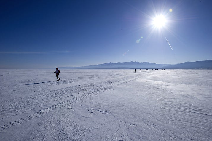 This is a marathon on ice! Bonus: Because of the featureless Siberian landscape, runners can nearly see the finish line from the start line, giving them nothing to do but think about how far away it still is as they run those grueling 26.2 miles.