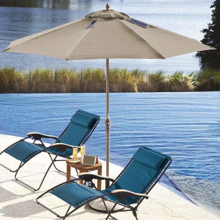 Saving the environment, battery life, AND awkward sunburns one umbrella at a time.