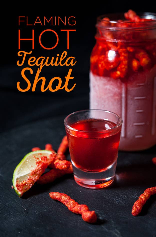 Flaming Hot Cheeto-Infused Tequila | Hot Cheetos Recipes For A Spiced Up Summer | Homemade Recipes