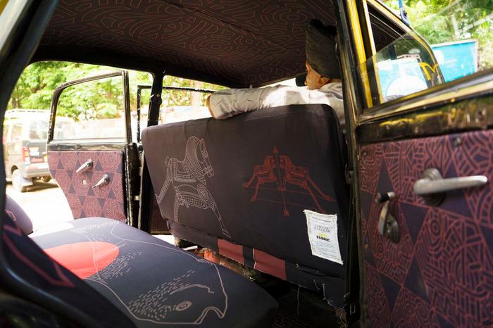 Taxi fabric design by Lokesh Karekar.