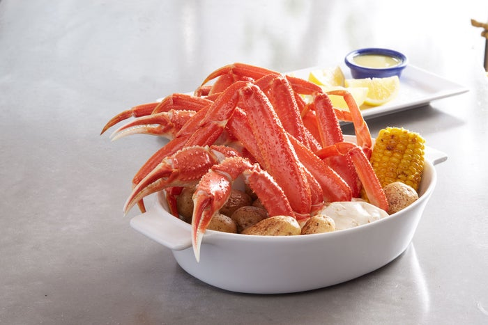 Red Lobster's new Bairdi crab dish.