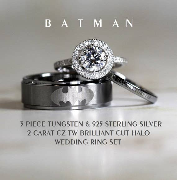 you can often get fun and unique bands for cheaper than your average diamond ring - Badass Wedding Rings