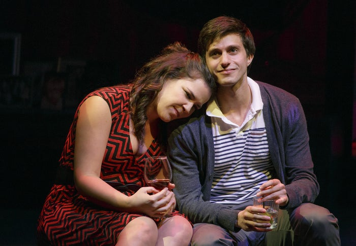 Lindsay Mendez and Gideon Glick in Significant Other.
