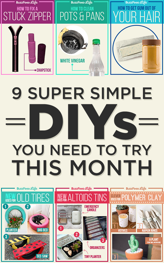 9 Super Simple DIYs You Need To Try This Month