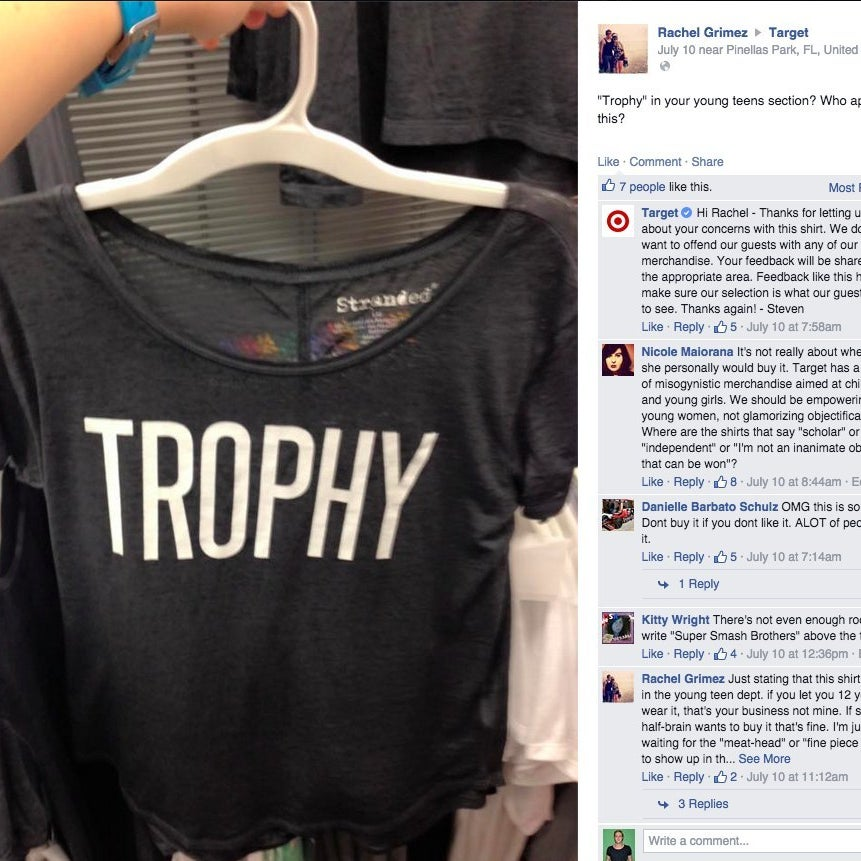 68599891 People Are Upset With Target For Selling A Shirt That Says