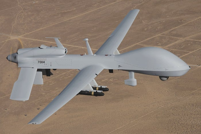 The MC-1Q Gray Eagle is made by General Atomics and costs roughly $21 million per aircraft.