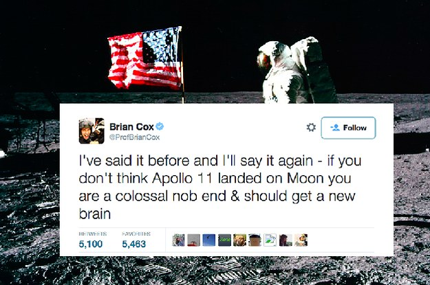 Brian Cox Thinks Moon Landing Conspiracy Theorists Are Colossal Nob Ends