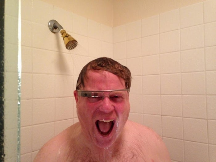 Despite this infamous photo of Robert Scoble in his shower, the original version of Google Glass was not waterproof.