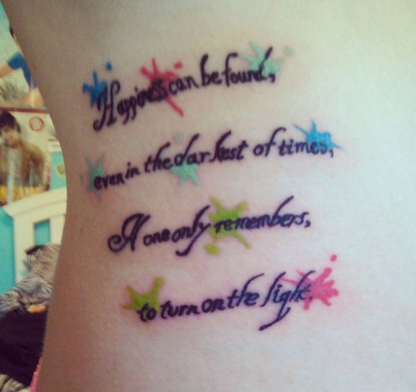 """Tattoo Quotes Harry Potter: 42 Insane """"Harry Potter"""" Tattoos Only Muggles Would Hate"""