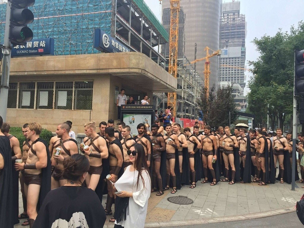 This Is What Happened When Hot Male Models Walked Around China In Spartan Costumes