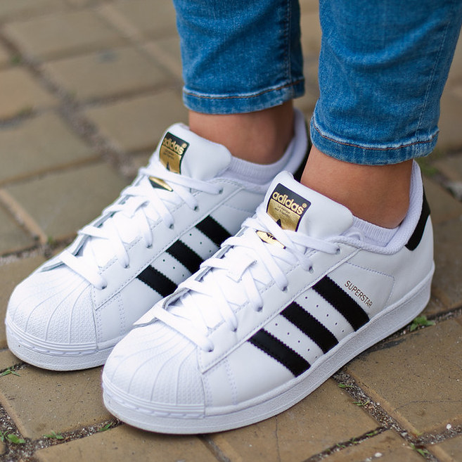adidas superstar blanco con negro