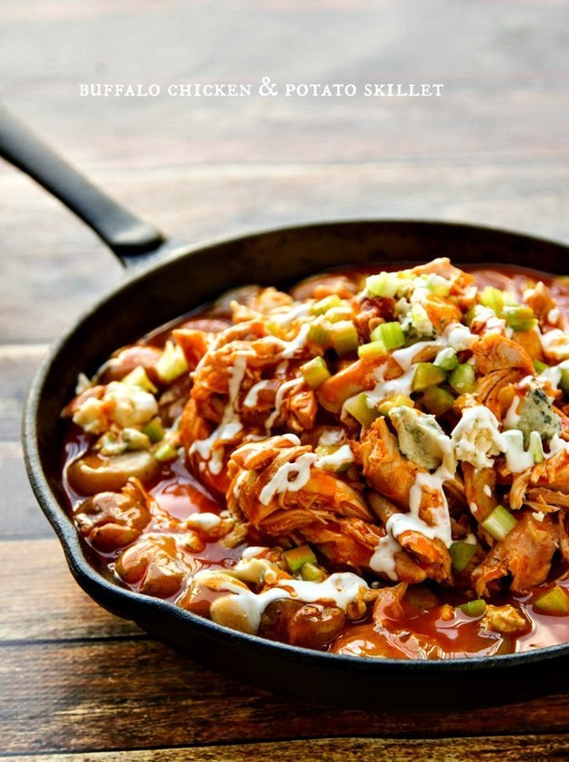 Buffalo Chicken and Potato Skillet