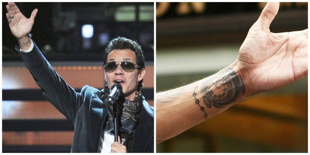 16 celebrities with tattoos of their exes for Marc anthony neck tattoo